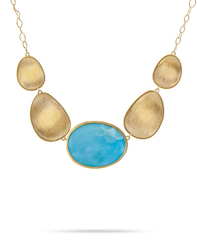 Lunaria 18K Yellow Gold & Turquoise Necklace