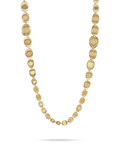 Lunaria 18K Gold Bead Necklace, 39.3