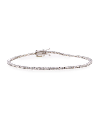 18K White Gold Diamond Line Bracelet