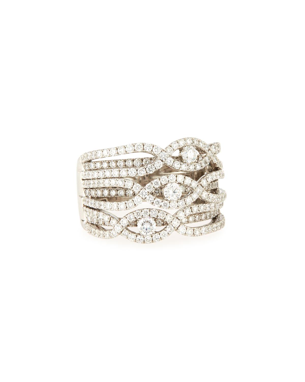 Bessa WHITE GOLD TRIPLE DIAMOND RI