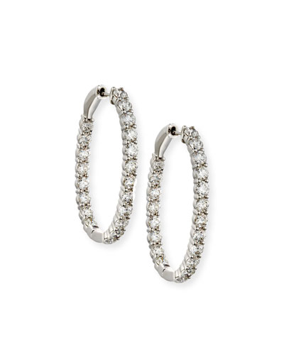 Bessa Looped 18K White Gold & Diamond X Hoop Earrings HweGlA