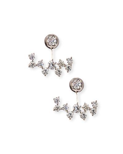 18K White Gold Diamond Jacket Earrings