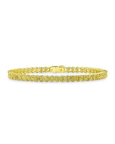 18K Gold Fancy Yellow Diamond Tennis Bracelet