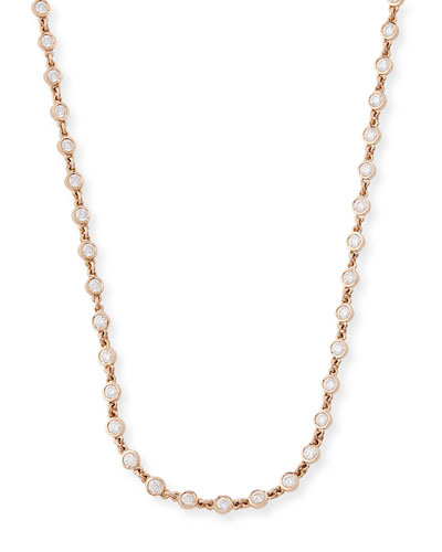 18K Rose Gold Diamonds By-the-Yard Necklace