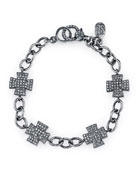 Diamond Pavé Maltese Cross Bracelet