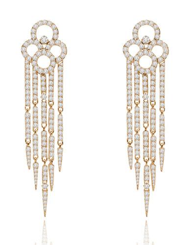 SUTRA 18K Rose Gold & Diamond Tassel Earrings