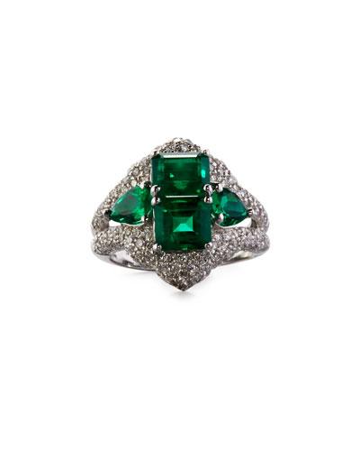 Emerald & Diamond Dome Ring