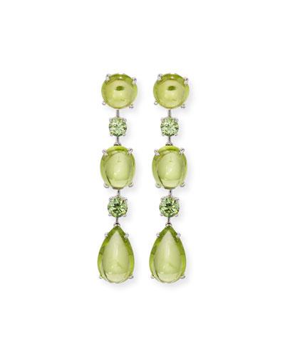 ROBERT ERICH Peridot & Demantoid Garnet Drop Earrings