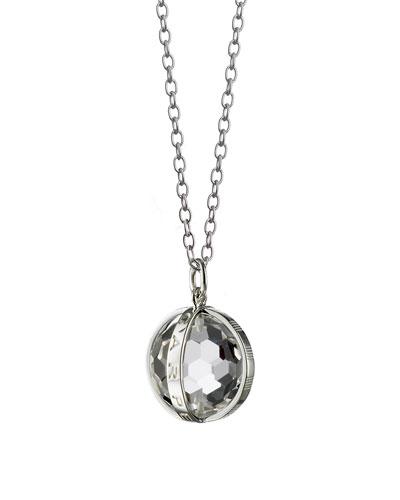 Monica Rich Kosann Baby Feet Pave White Sapphire Charm Necklace, 30L