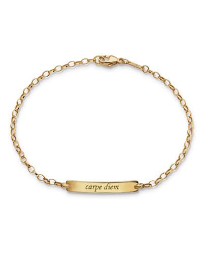 18K Carpe Diem Poesy Small ID Bracelet