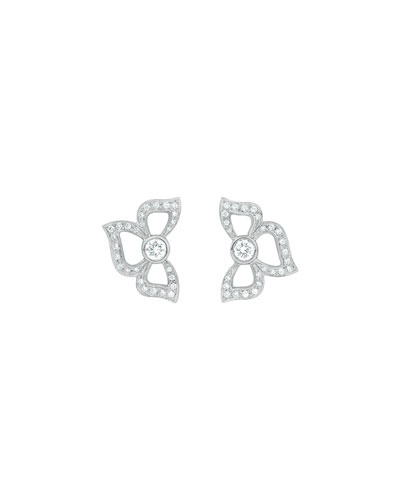Fiorette Pavé Diamond Stud Earrings