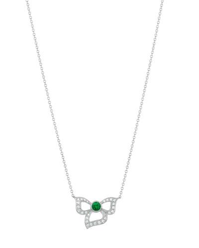 18K Florette Emerald & Diamond Pendant Necklace