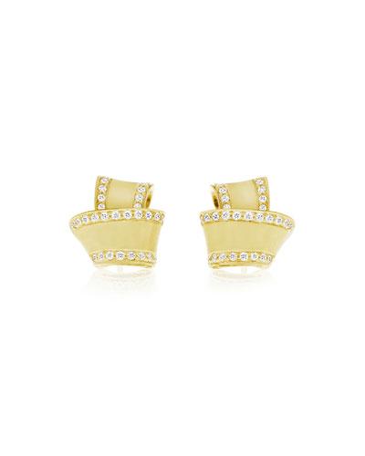 CARELLE Knot Diamond & 18K Yellow Gold Stud Earrings