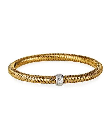 Roberto Coin Primavera 18k Diamond-Station Bracelet, 0.22 TCW