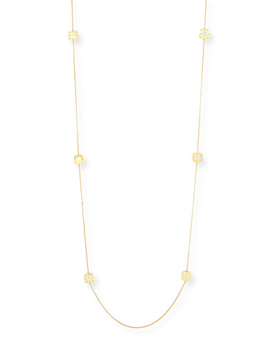 Pois Moi 18k Mother-of-Pearl Station Necklace, 40