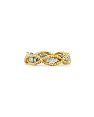 Barocco 18k Diamond Band Ring