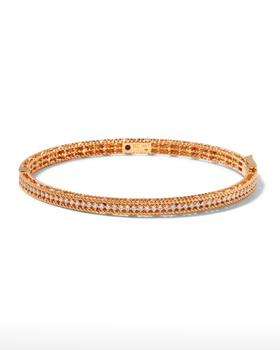 Symphony Collection 18K Rose Gold Princess Diamond Bangle