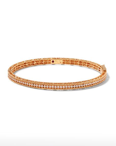 Roberto Coin Symphony Collection 18K Rose Gold Princess Diamond Bangle