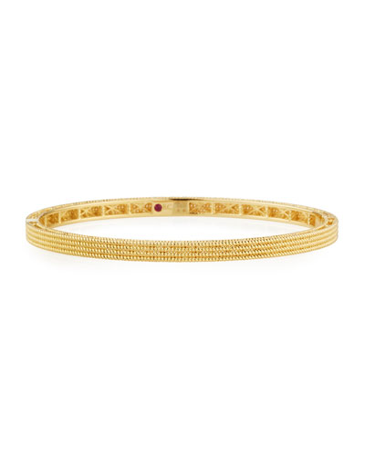 Symphony Collection Gold Stacked Barocco Bangle in 18K Rose Gold
