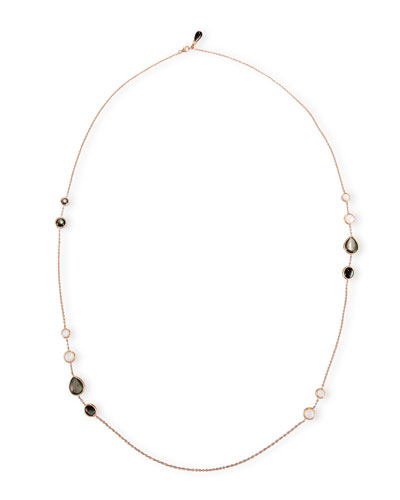 Frederic Sage Black & White Mother-of-Pearl Station Necklace in 18K Rose Gold svjbNCcpq