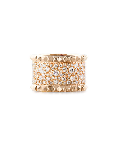 Rock & Diamond 18K Rose Gold Ring