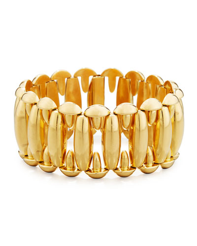 18K Yellow Gold Oval Link Bracelet