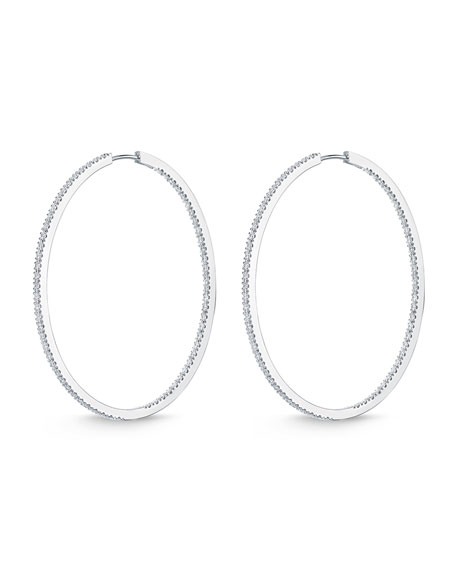 Memoire 18K White Gold & Diamond Infinity Hoop Earrings, 2.0 tdcw