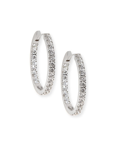18K White Gold & Diamond Infinity Hoop Earrings, 2.58 tdcw