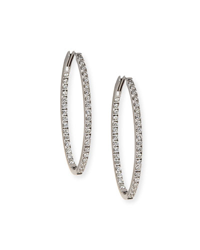 18K White Gold & Diamond Infinity Hoop Earrings, 2.75 tdcw