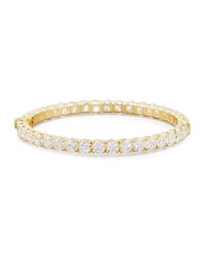 18K Yellow Gold Diamond Eternity Bangle, 16.24 TCW