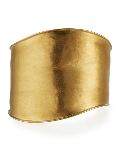 Lunaria Cuff Bracelet in 18K Yellow Gold