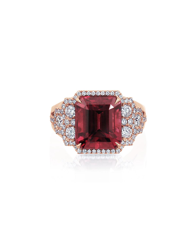 18k Rose Gold Rhodolite Ring