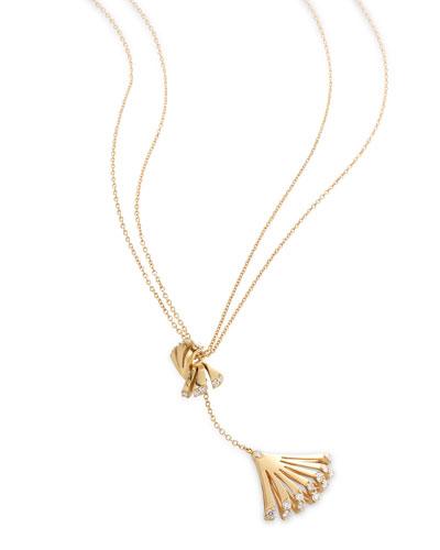 Ventaglio 18k Gold Diamond Fan Pendant Necklace