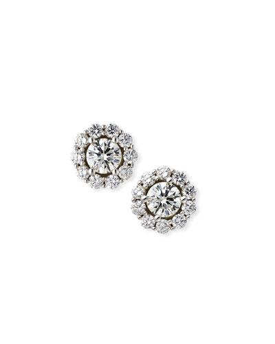 MEMOIRE FOR FOREVERMARK BLOSSOM DIAMOND STUD EARRINGS IN 18K WHITE GOLD, 1.5TDCW