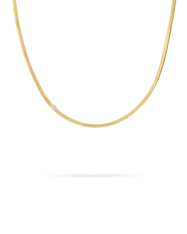 Masai 18K Single-Strand Necklace with Diamond Station