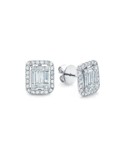 Ascension Diamond Baguette Stud Earrings