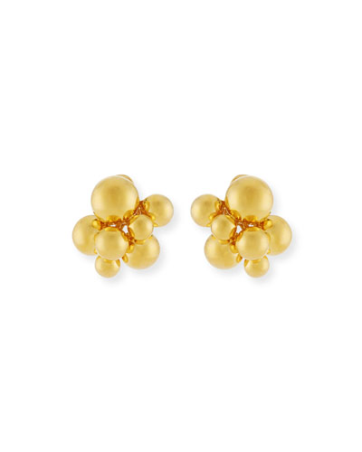 MARINA B SMALL ATOMO CLIP-ON EARRINGS IN 18K GOLD