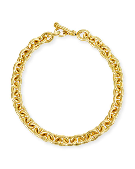 Elizabeth Locke Heavy Oval Link Necklace