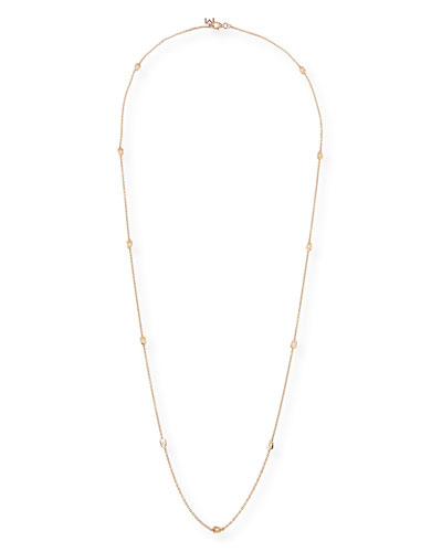 Puzzle Station Necklace in 18K Rose Gold