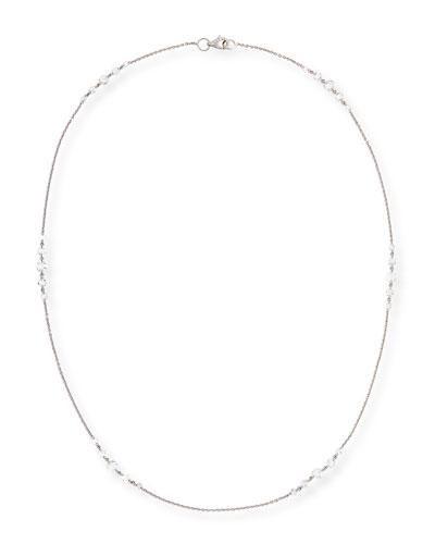 Rose-Cut Diamond Station Necklace