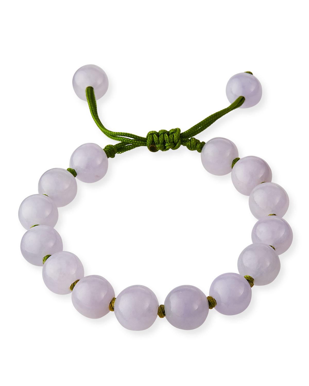Beaded Lavender Jade Bracelet