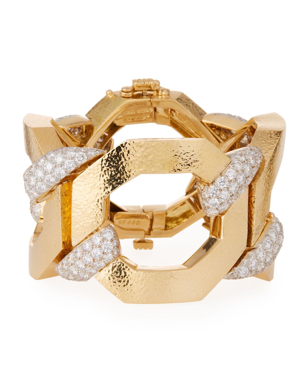 57th 18k Juno Diamond-Link Bracelet