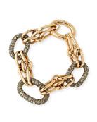 Tango 18K Rose Gold Link Bracelet with Brown Diamonds