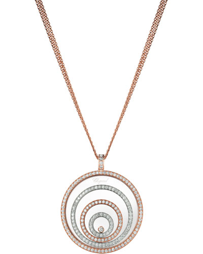 Happy Spirit 18k Two-Tone Diamond Long Pendant Necklace, 3.17tcw