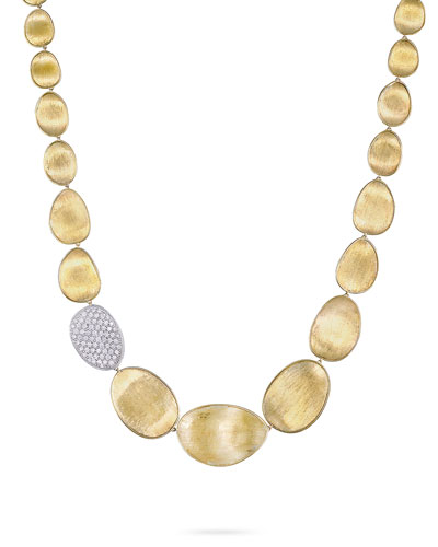 Diamond Lunaria 18k Gold Necklace, 18