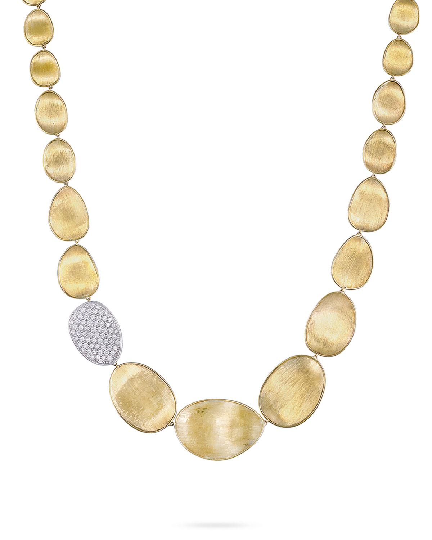 Diamond Lunaria 18k Gold Necklace
