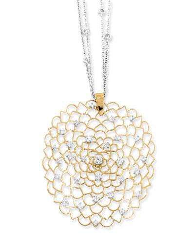 Moresca 18k Rose Gold Openwork Pendant Necklace