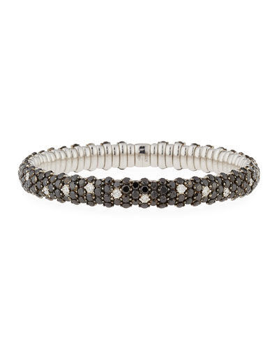 Stretch Black & White Diamond Bracelet