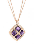 Imperiale Amethyst Pendant Necklace with Diamonds