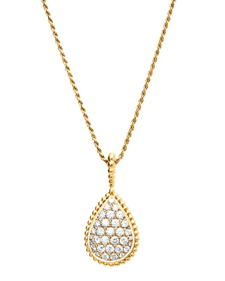 Boucheron Serpent Boheme 18k Gold Diamond Pendant Necklace
